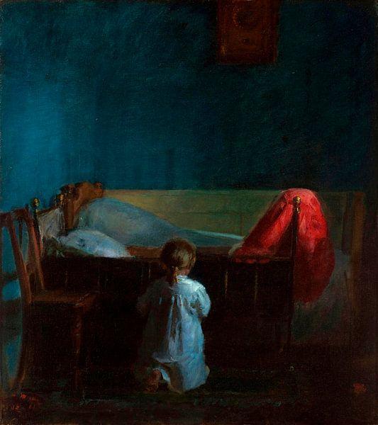 Abendgebete, Anna Ancher von Meesterlijcke Meesters