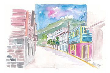 Road Town Tortola Britische Jungferninsel Straßenszene von Markus Bleichner