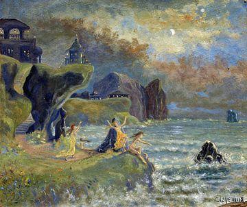 Louis Eilshemius, Sirenes van de zee, 1908 van Atelier Liesjes