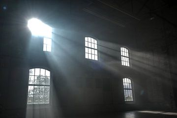 Le soleil brille à travers les fenêtres sur Edsard Keuning