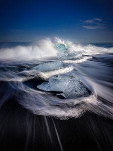 Diamond Beach, IJsland van Eddy Westdijk