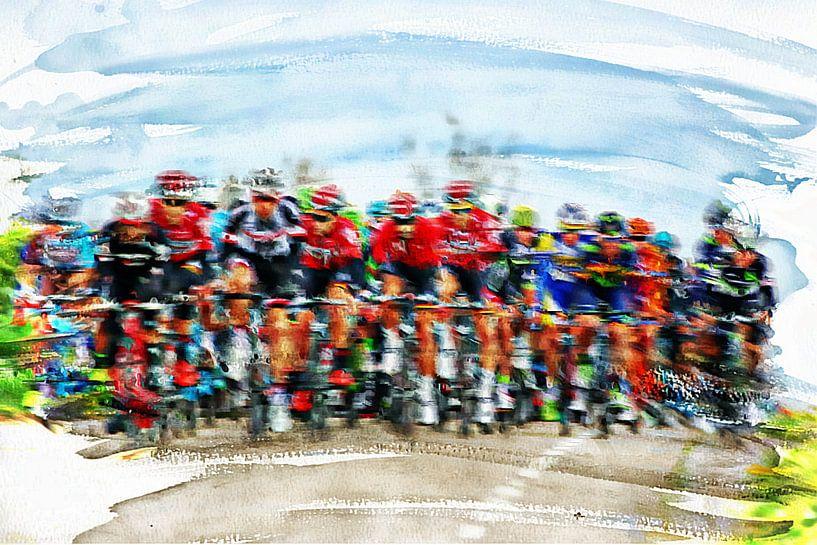 wielrennen van Yvonne Blokland