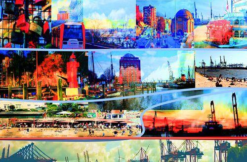 Hamburg/Elbe /Collage-1 van