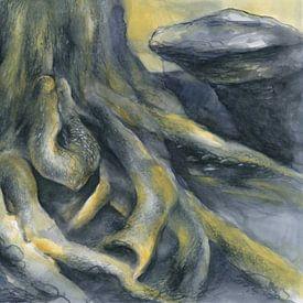 Wurzel auf dem Felsplateau von Adriana Mueller