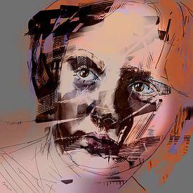 Portret Lisa. van SydWyn Art