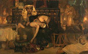 Der Tod des Erstgeborenen des Pharaos, Lourens Alma Tadema, 1872.