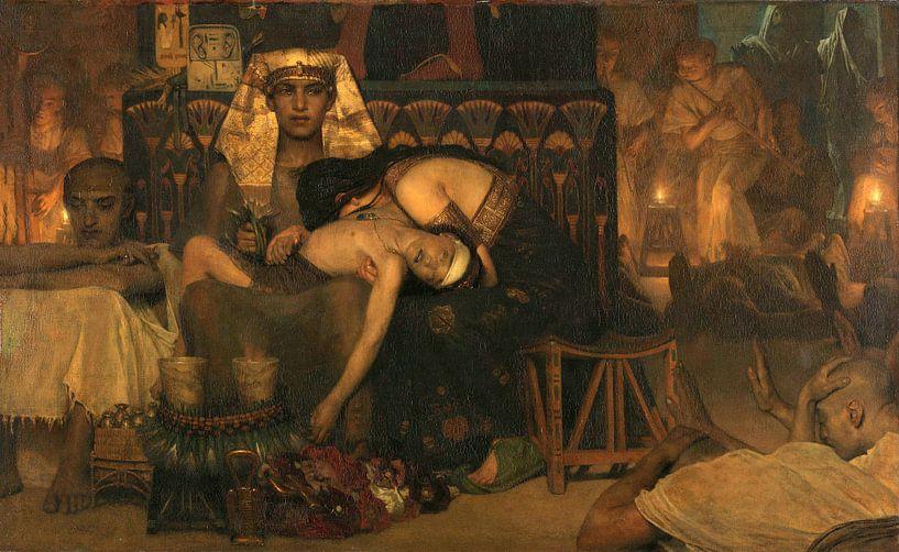Der Tod des Erstgeborenen des Pharaos, Lourens Alma Tadema, 1872. von Marieke de Koning