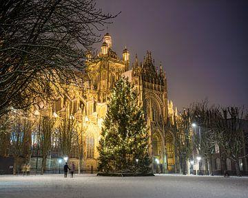 Sint-Jan in de sneeuw, 's-Hertogenbosch van Niek Wittenberg