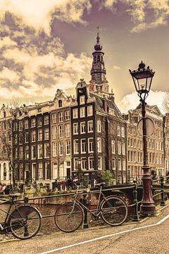 Zuiderkerk Amsterdam Kloveniersburgwal Winter Oud von Hendrik-Jan Kornelis