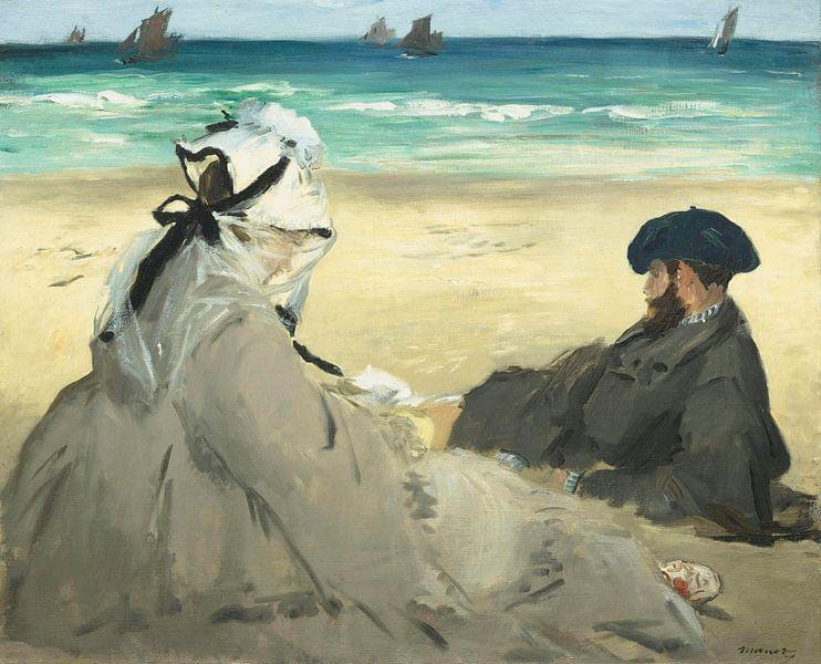On the Beach, Édouard Manet von Meesterlijcke Meesters