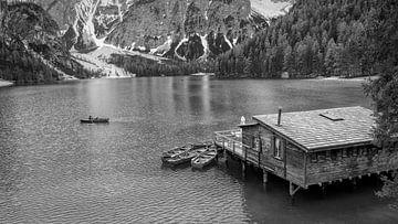 Pragser Wildsee - Dolomiten in Schwarz und Weiß