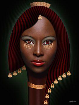 Afrikanische Königin von Ton van Hummel (Alias HUVANTO)