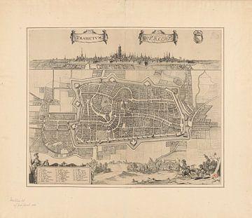 Plattegrond van de stad Utrecht, anoniem, 1652