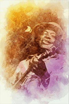 Blues-Gitarrist von ! Grobie