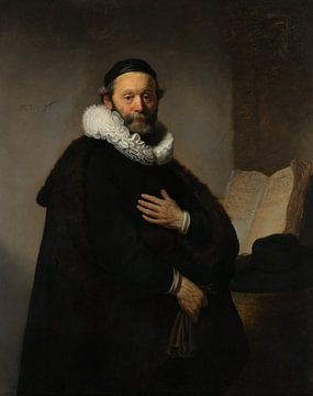 Portret van Johannes Wtenbogaert, Rembrandt van Rijn sur