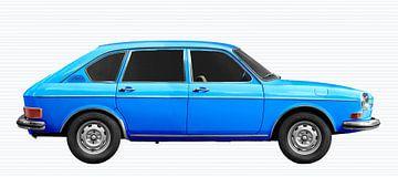 VW 411 in blauw van aRi F. Huber