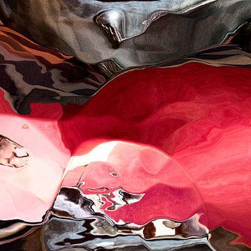 Rode edelsteen in de rots van GoStijn
