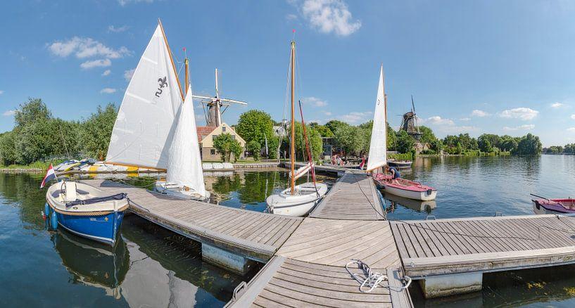 Molens De Lelie en De Ster aan de Kralingse Plas, Rotterdam, Zuid-Holland, Nederland van Rene van der Meer