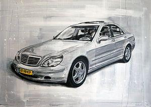 Mercedes schilderij van Jos Hoppenbrouwers