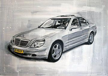 Mercedes Malerei von Jos Hoppenbrouwers