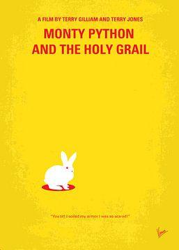No036 My Monty Python And The Holy Grail minimal movie poster van Chungkong Art