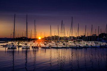 Sonnenuntergang Hafen von Olaf Kerkhof
