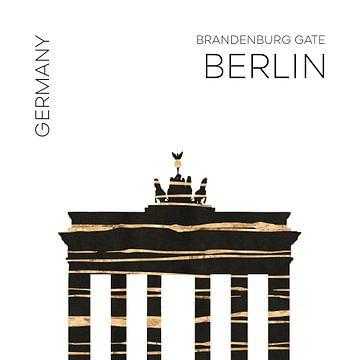Urban Art BERLIN Brandenburger Tor von Melanie Viola