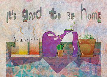 Stillleben Haus Pflanzen , Kerzen und Motivation Zitat von Ariadna de Raadt-Goldberg