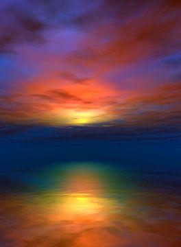Zonsondergang Kleuren van Angel Estevez