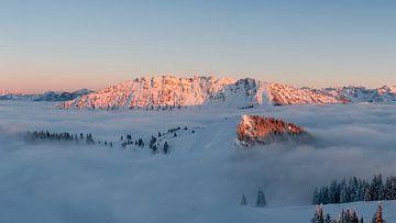 Allgäuer Alpenglühen am Hirschberg von Leo Schindzielorz