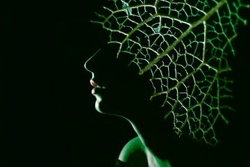 Vrouw in het groen van Anouschka Hendriks