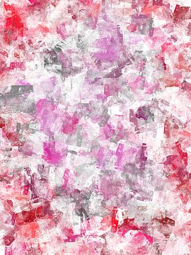 Abstrakt in rot-rosa Tönen von Maurice Dawson