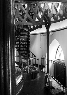 Detail van het interieur van het Cruquius Stoomgemaal nabij Heemstede, Noord Holland van