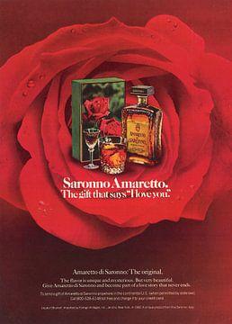Vintage Werbung 1968 Saronno Amaretto sur Jaap Ros