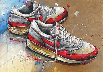 Nike air max 1, 1987 Gemälde von Jos Hoppenbrouwers