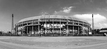 Feyenoord stadion ' de Kuip ' zwart wit van Midi010 Fotografie