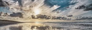 Der Nordseestrand bei tiefstehender Sonne