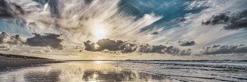 Der Nordseestrand bei tiefstehender Sonne von eric van der eijk