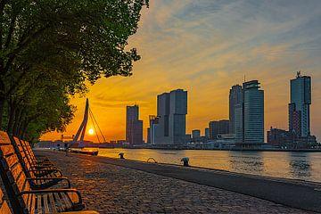 Rotterdam zonsopkomst van Chris van Es