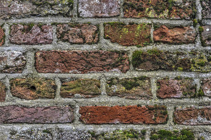 Buntes Mauerwerk von Frans Blok