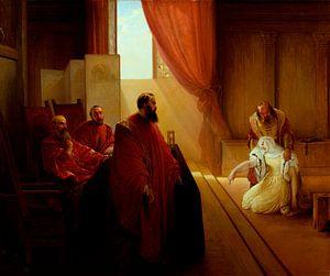 Valenza Gradenigo vor der Inquisition, Francesco Hayez