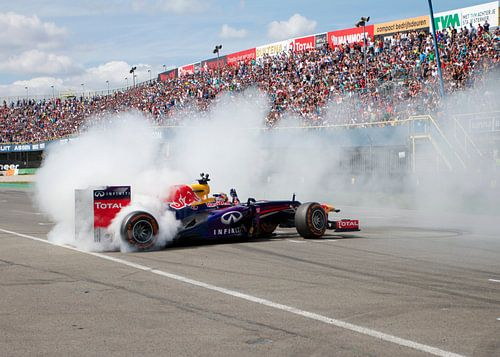 Formule 1 burnout! van