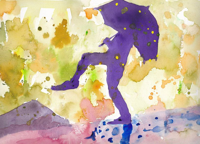 Dancing purple in the rain van Catharina Mastenbroek
