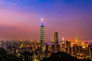 Elephant Mountain (Taipei, Taiwan) van Michel van Rossum