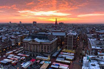 Winters uitzicht Martinitoren Groningen von Frenk Volt
