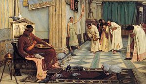J. W. Waterhouse - The favourites of the Emperor Honorius van