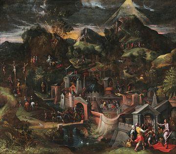 Einzug Christi in Jerusalem und Szenen der Passion, Gillis Mostaert