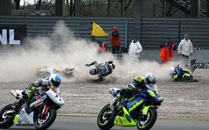 Motorcrash on TT circuit Assen