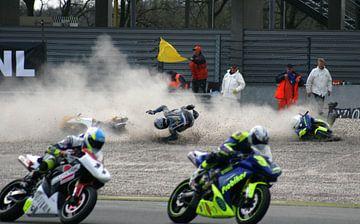 Motor crash op TT Assen tijdens de Paasraces ongeluk van noeky1980 photography