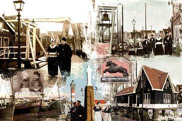 Collage Volendam oud en nieuw van Dutch Art